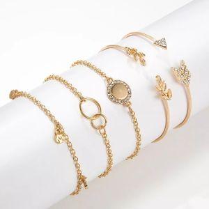 Bracelet Bundle Goldtone, 5 Pieces